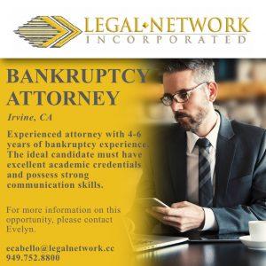 Bankruptcy Attorney – Irvine, CA - Legal Job
