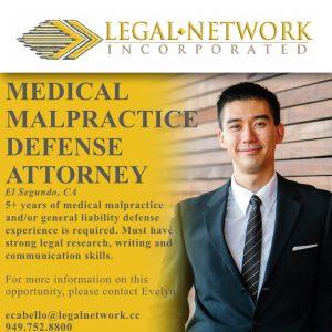 Medical Malpractice Defense Attorney – El Segundo, CA